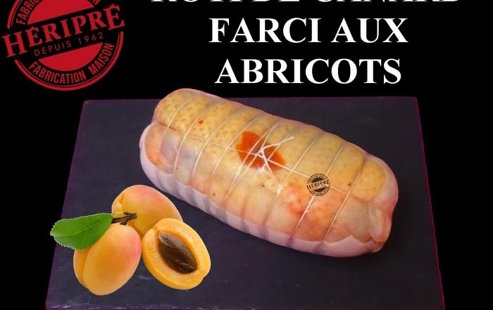 Présentation rôti canard abricot fabrication maison